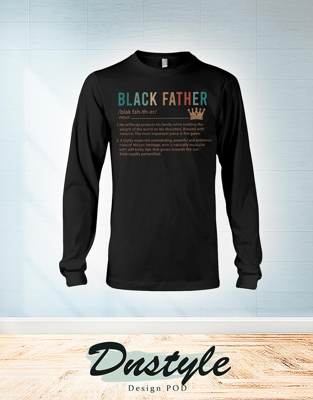 Vintage Black father definition long sleeve
