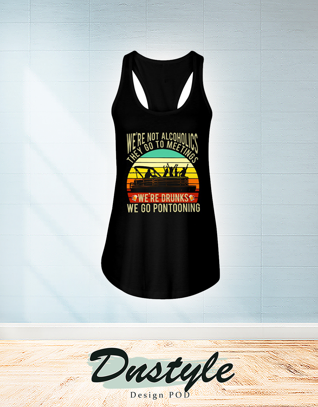 Vintage Boating we're not alcoholics they go to meetings flowy tank