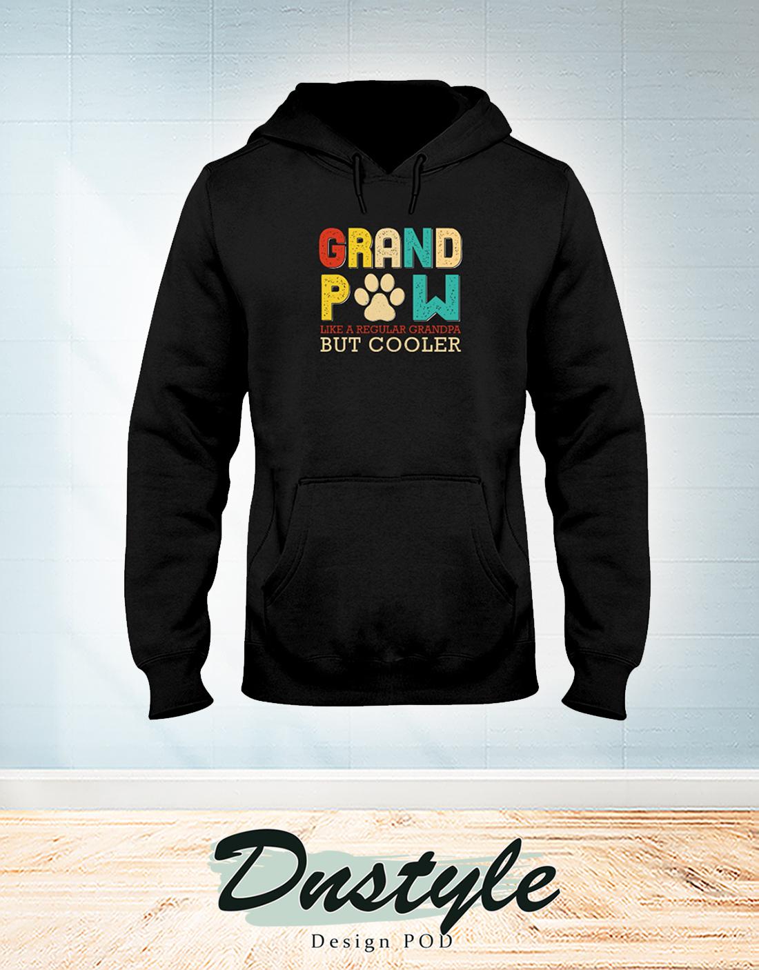 Vintage Grand Paw like a regular grandpa but cooler hoodie
