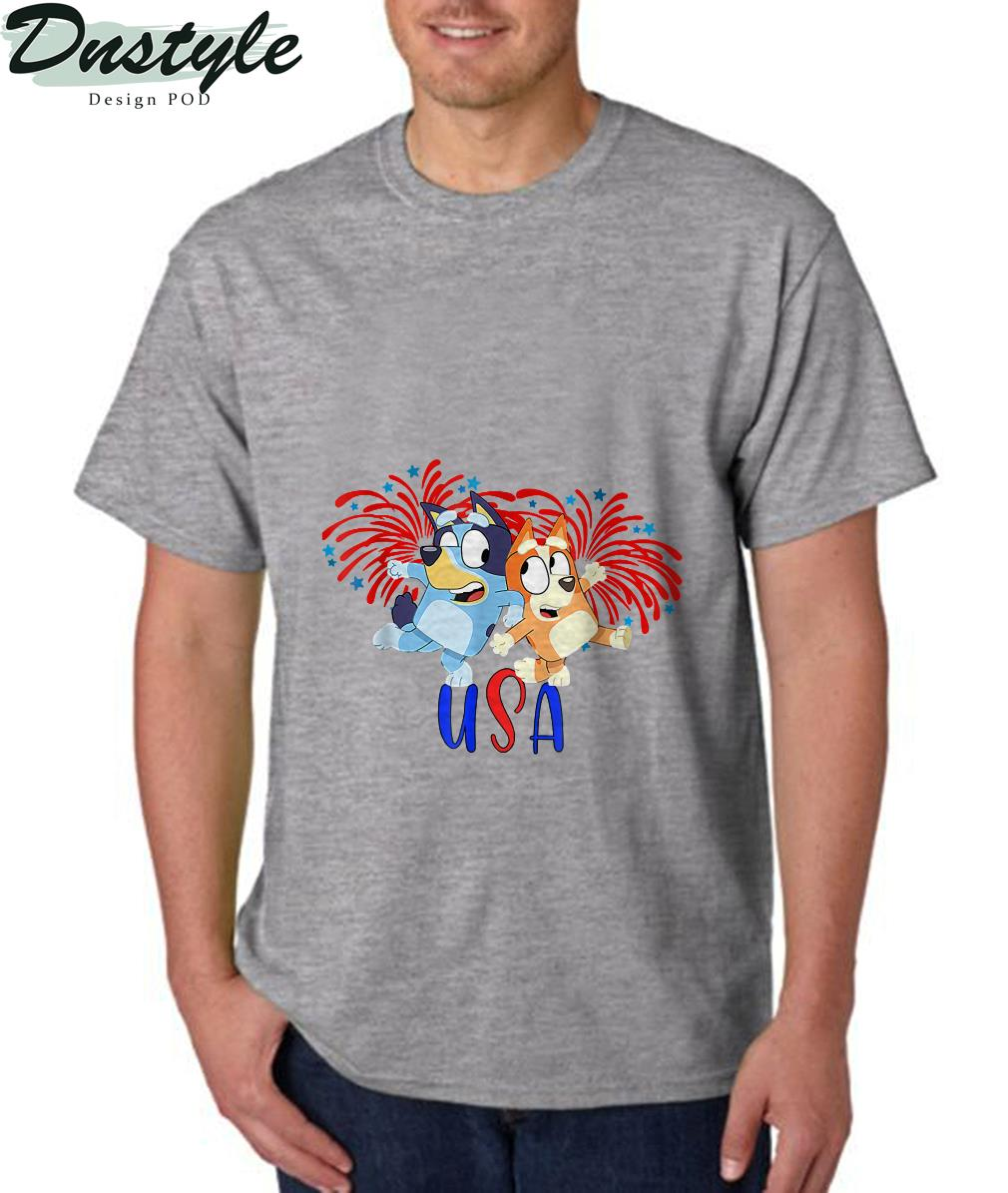 Blueys 4th of July Red White And Blue America T-Shirt