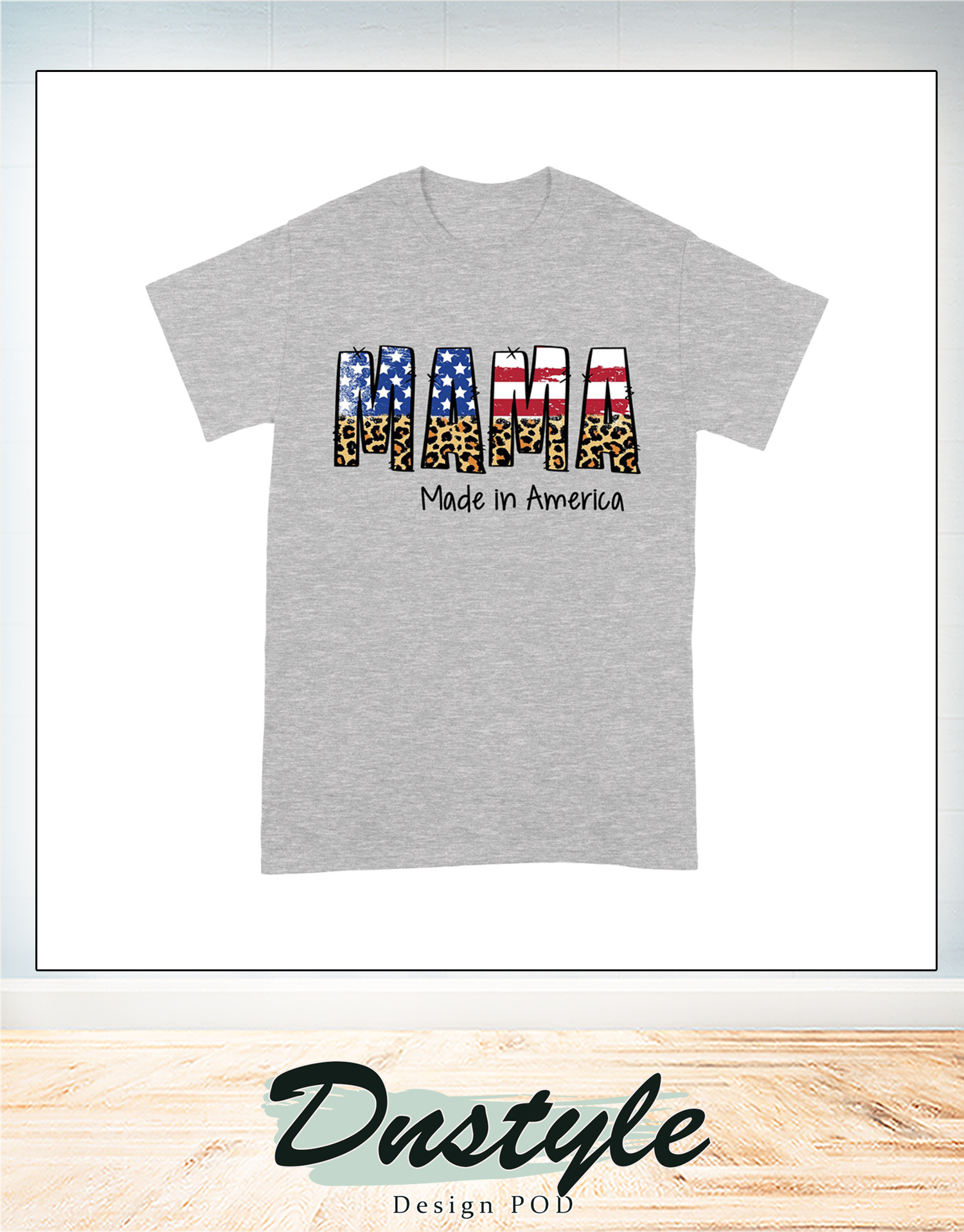 4th of july american flag mama made in america family t-shirt 1