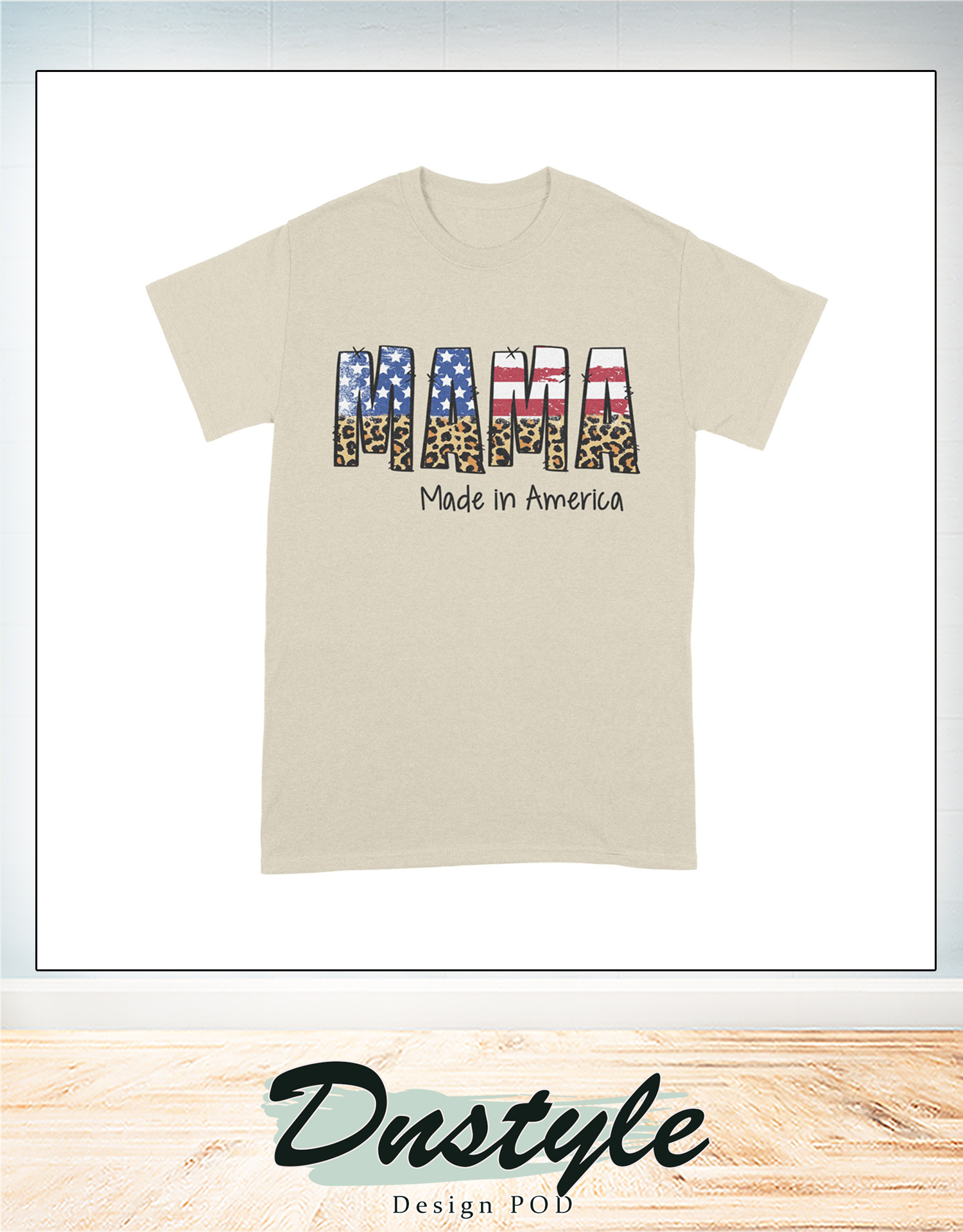 4th of july american flag mama made in america family t-shirt 2