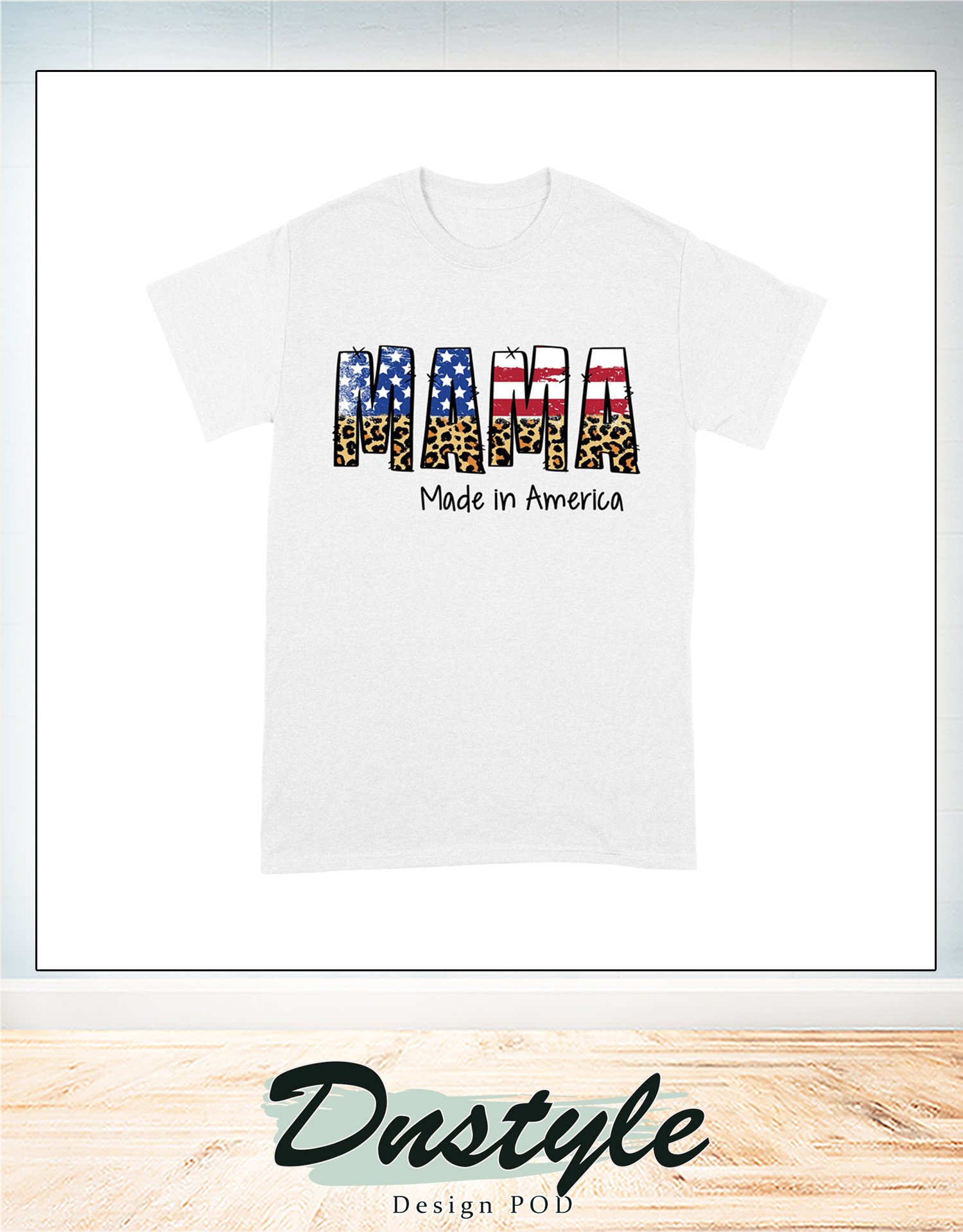 4th of july american flag mama made in america family t-shirt 3