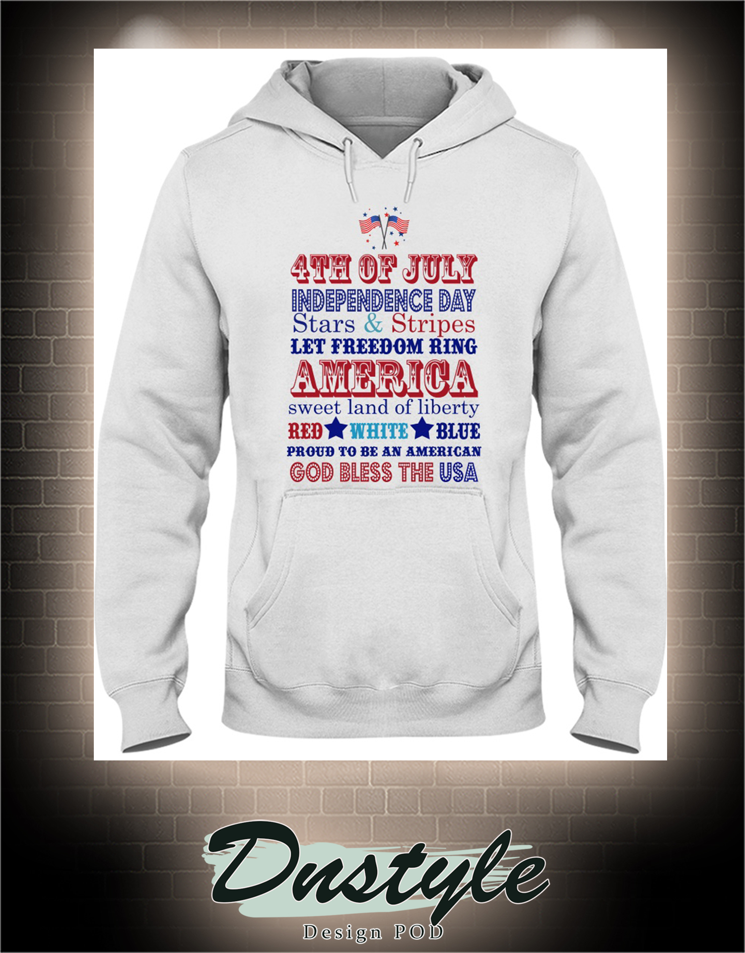 4th of july independence day stars and stripes let freedom ring america hoodie