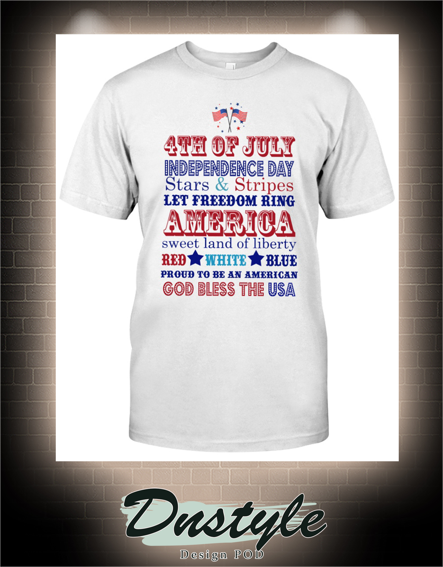 4th of july independence day stars and stripes let freedom ring america t-shirt