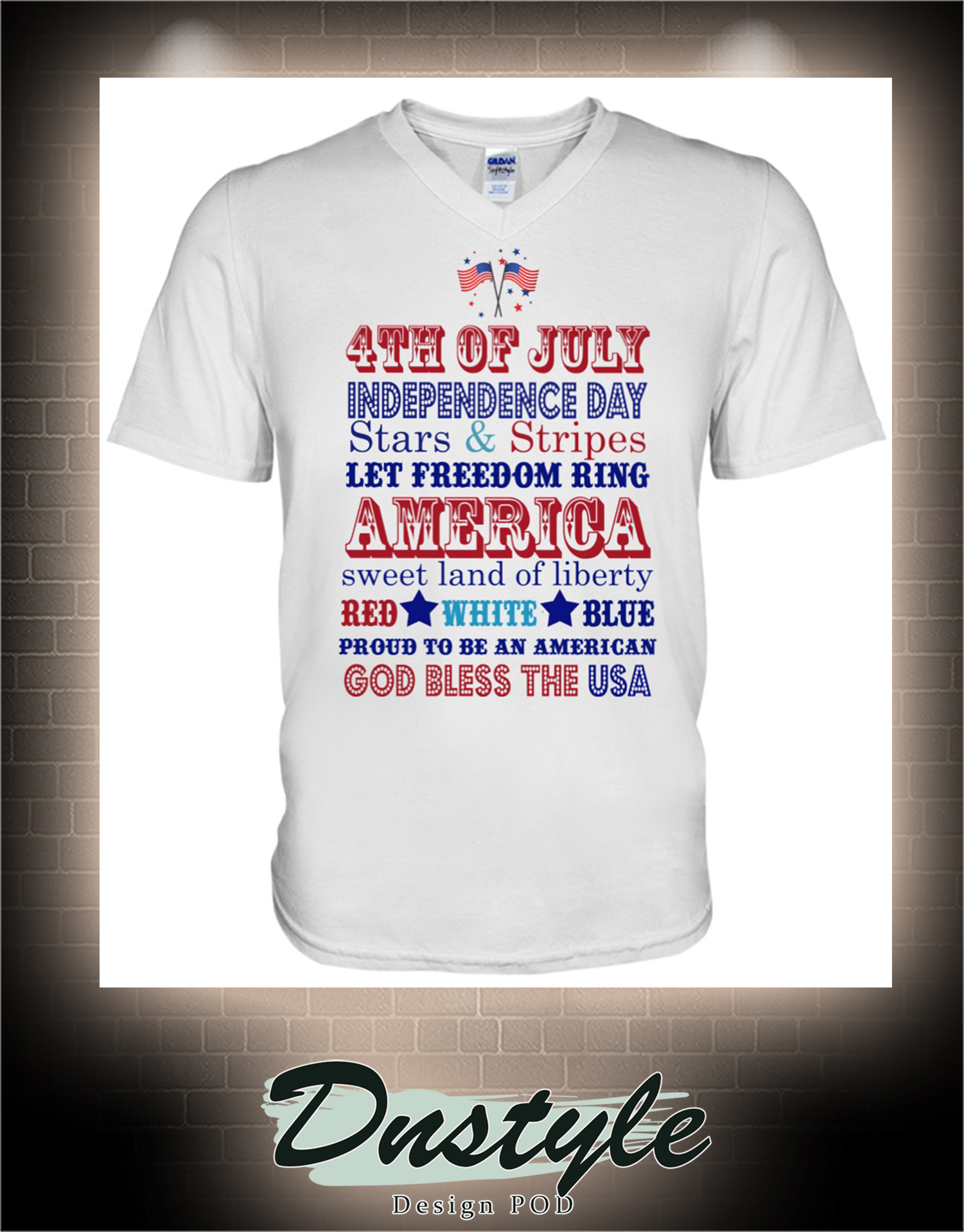 4th of july independence day stars and stripes let freedom ring america v-neck