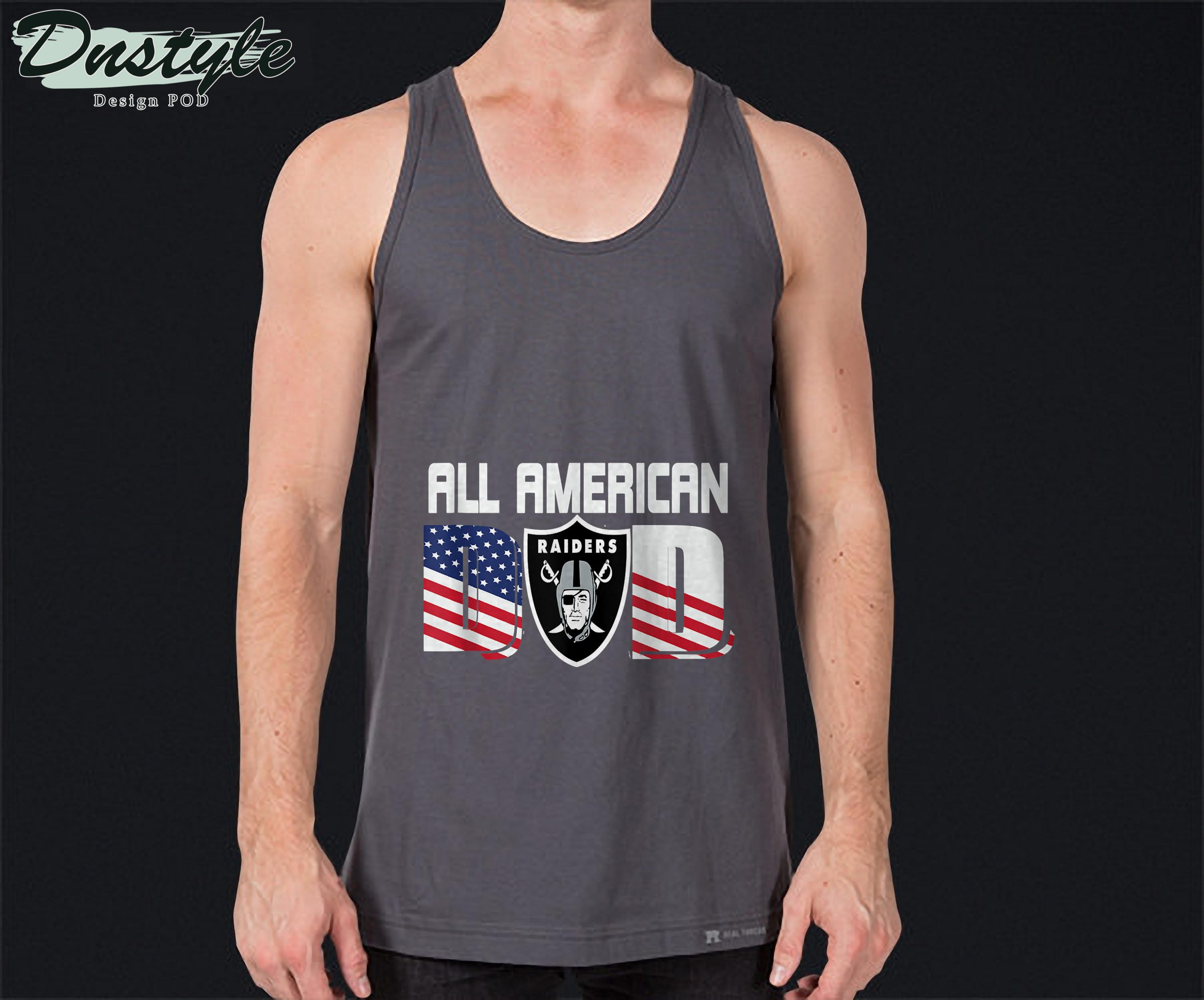 All American Raiders Dad 4th of July Fathers Day Tank Top 1