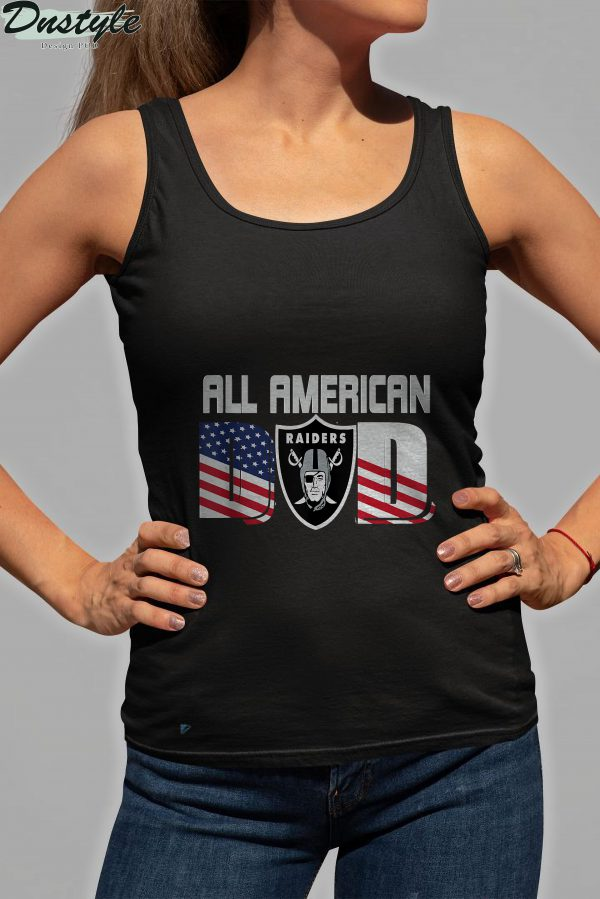 All American Raiders Dad 4th of July Fathers Day Tank Top 2