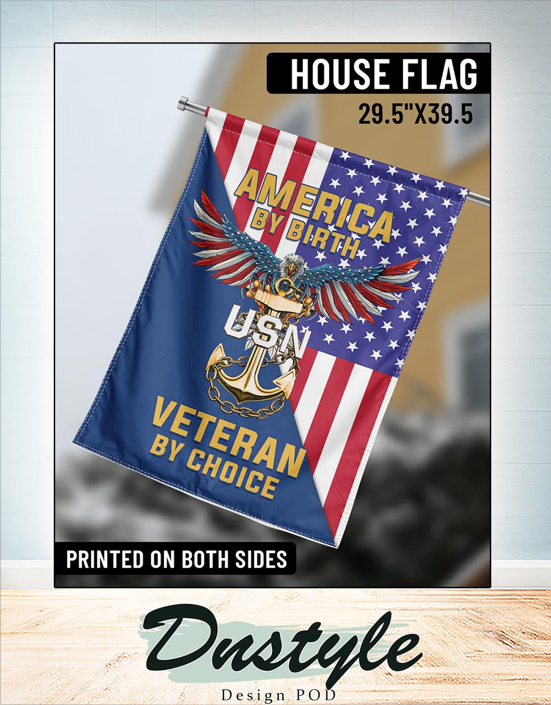 America by birth veteran by choice flag 1