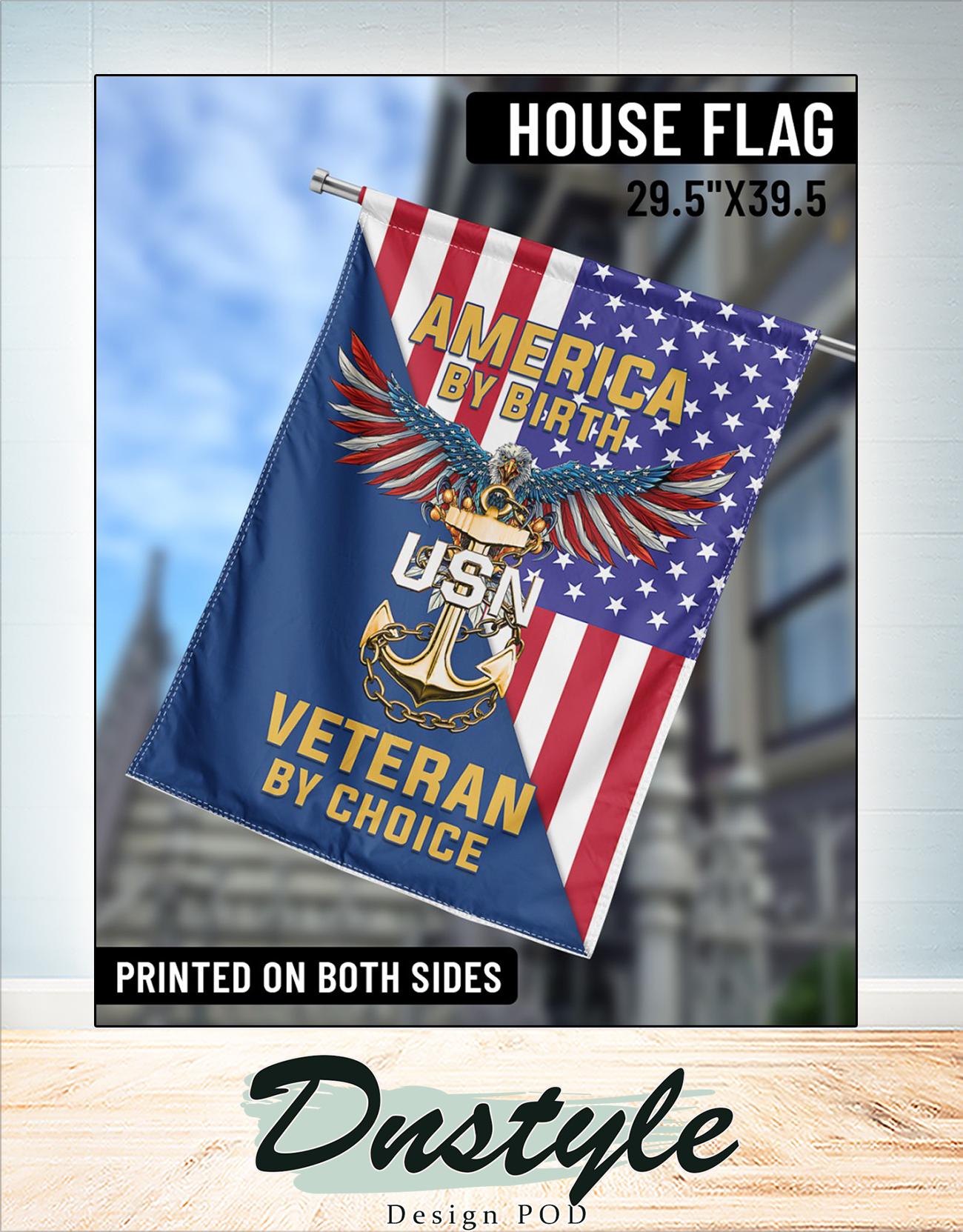 America by birth veteran by choice flag 2