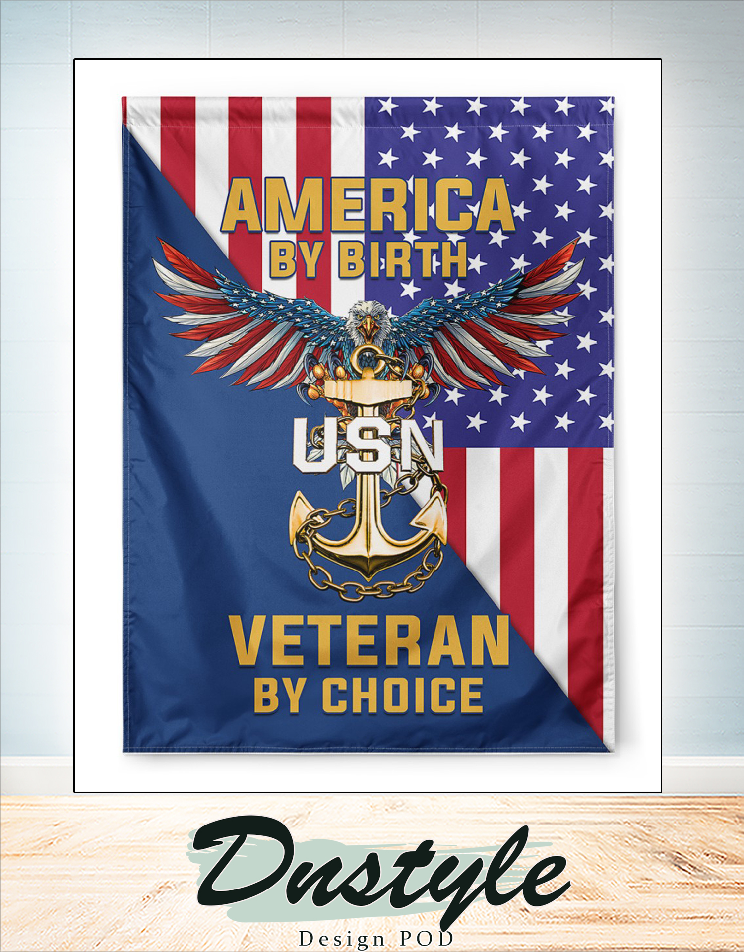 America by birth veteran by choice flag