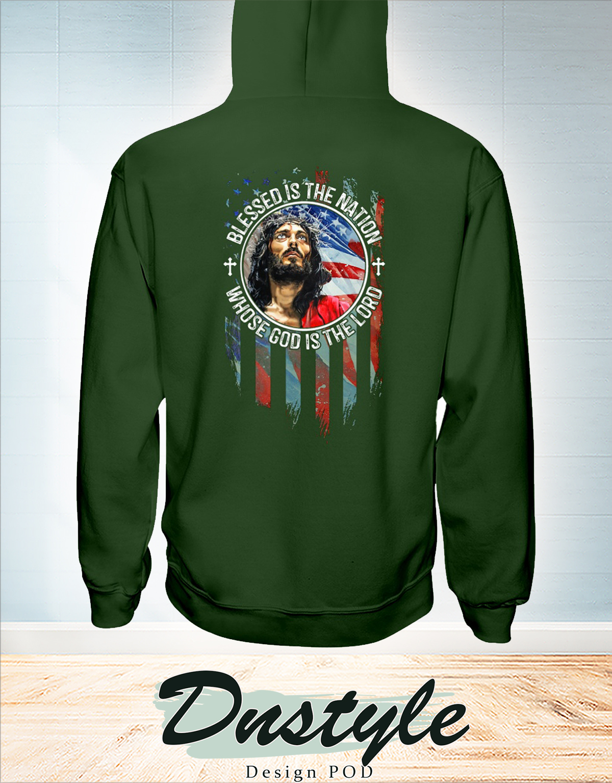 American flag Blessed is the nation whose god is the lord american flag independence day hoodie