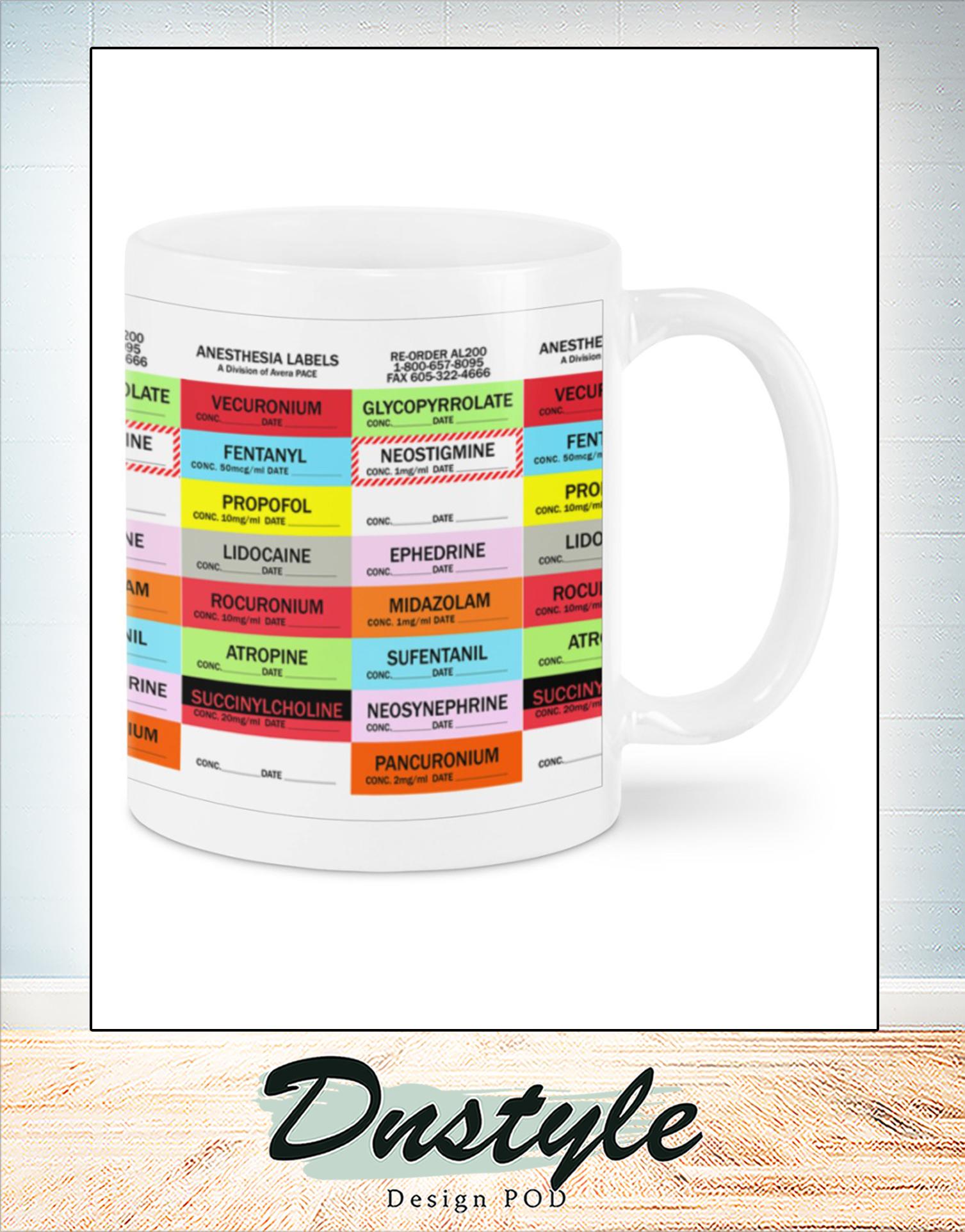 Anesthesia lebal mug
