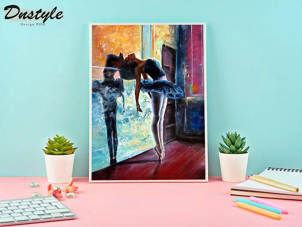 Ballet dancer painting poster A1