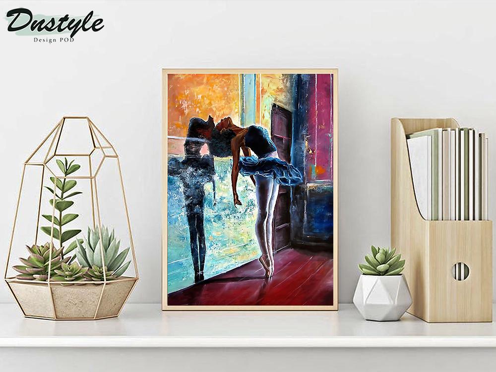 Ballet dancer painting poster A3