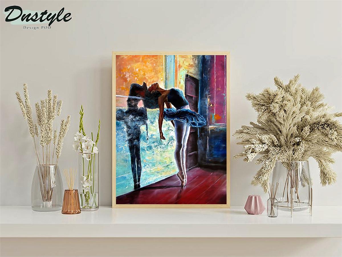 Ballet dancer painting poster