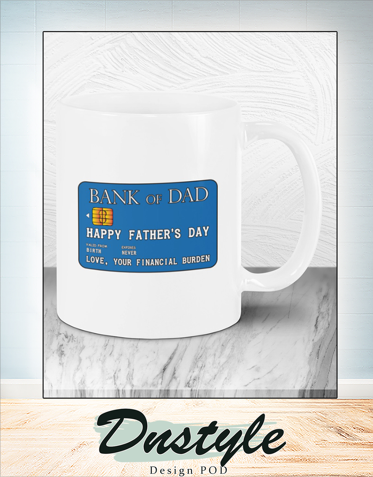 Bank of dad happy father's day mug 1