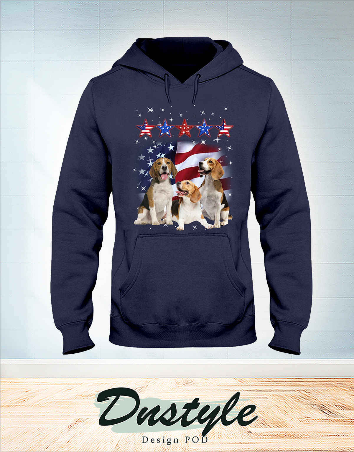 Beagle america five star fore 4th of July hoodie