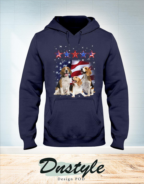 Beagle america flag five star force hoodie