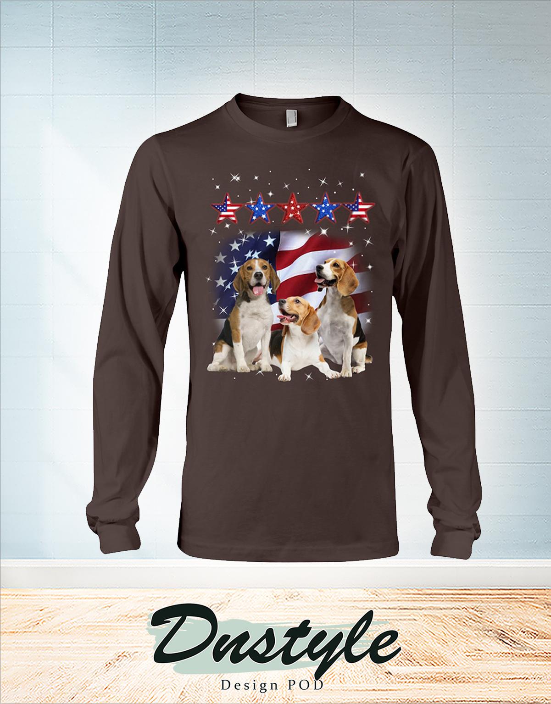 Beagle america flag five star force long sleeve
