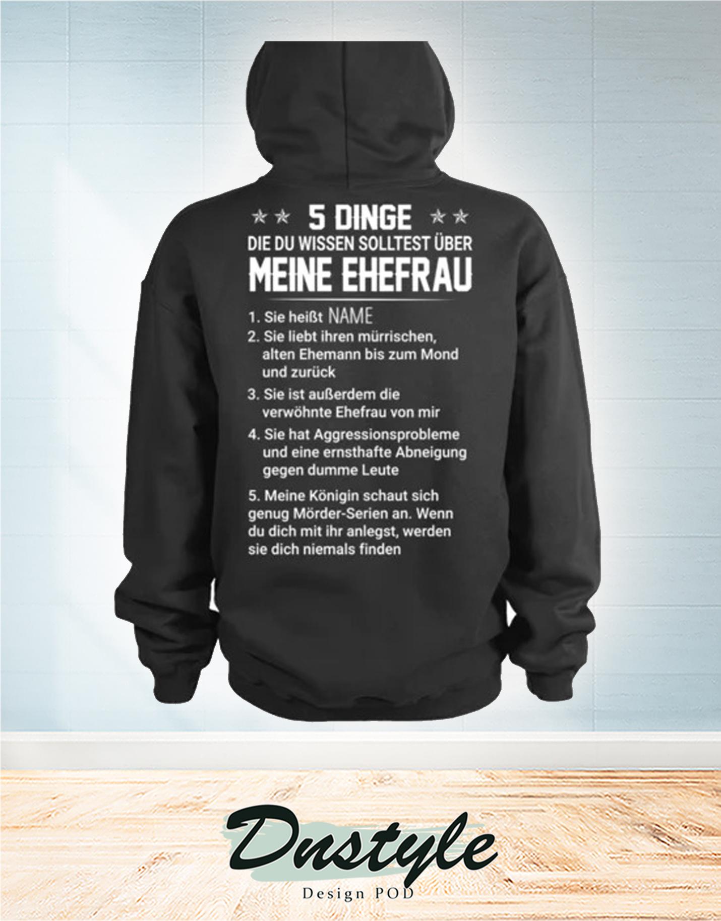 Benutzerdefiniert 5 dinge die du wissen solltest über meine ehefrau hoodie