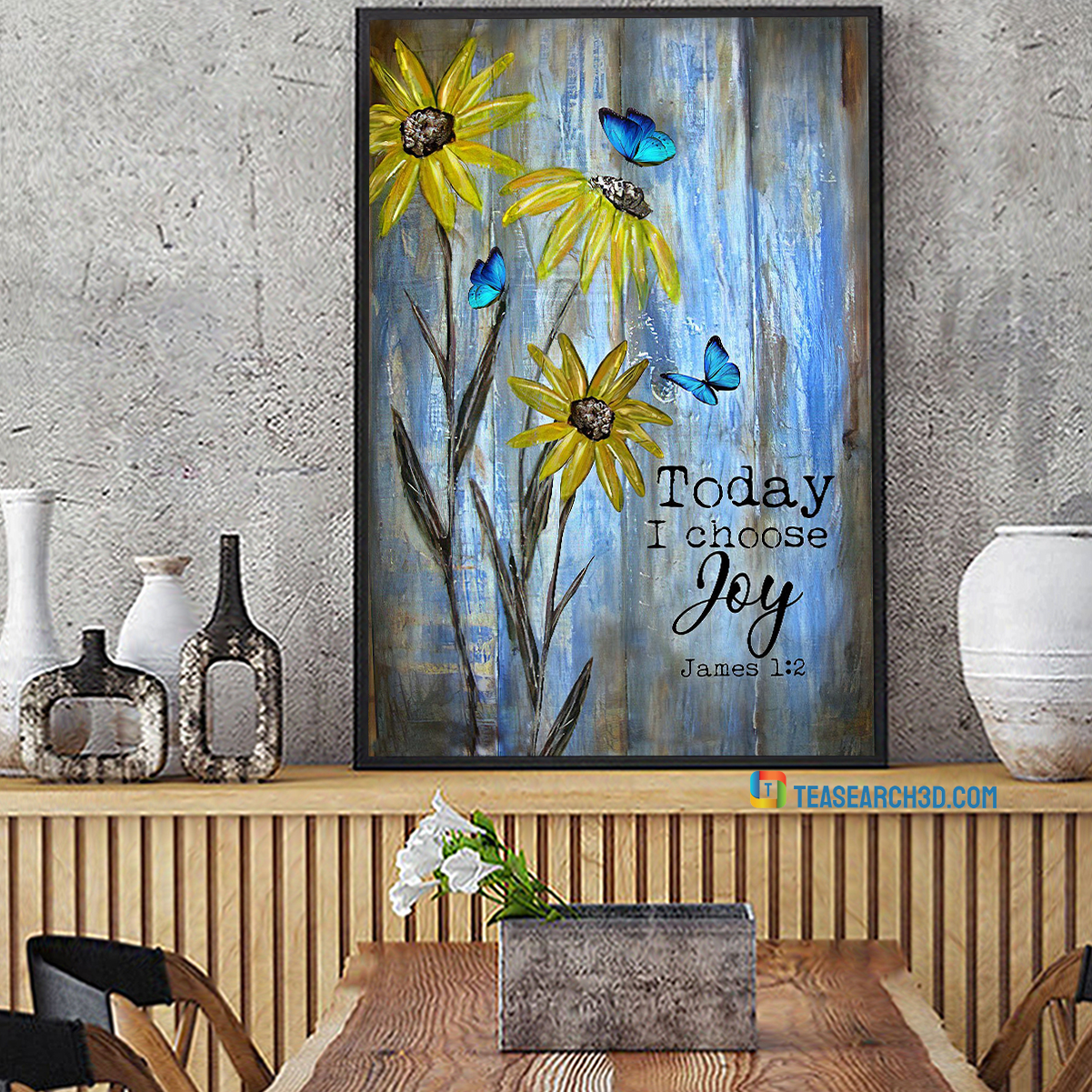 Butterfly and flower today I choose joy jesus canvas small