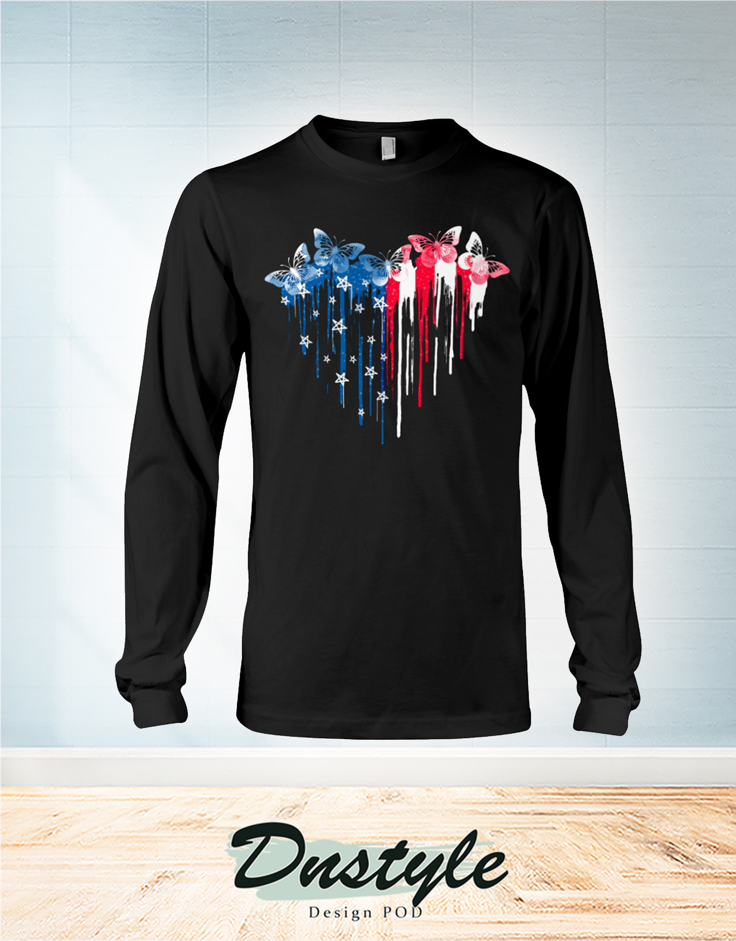 Butterfly freedom hear colors long sleeve