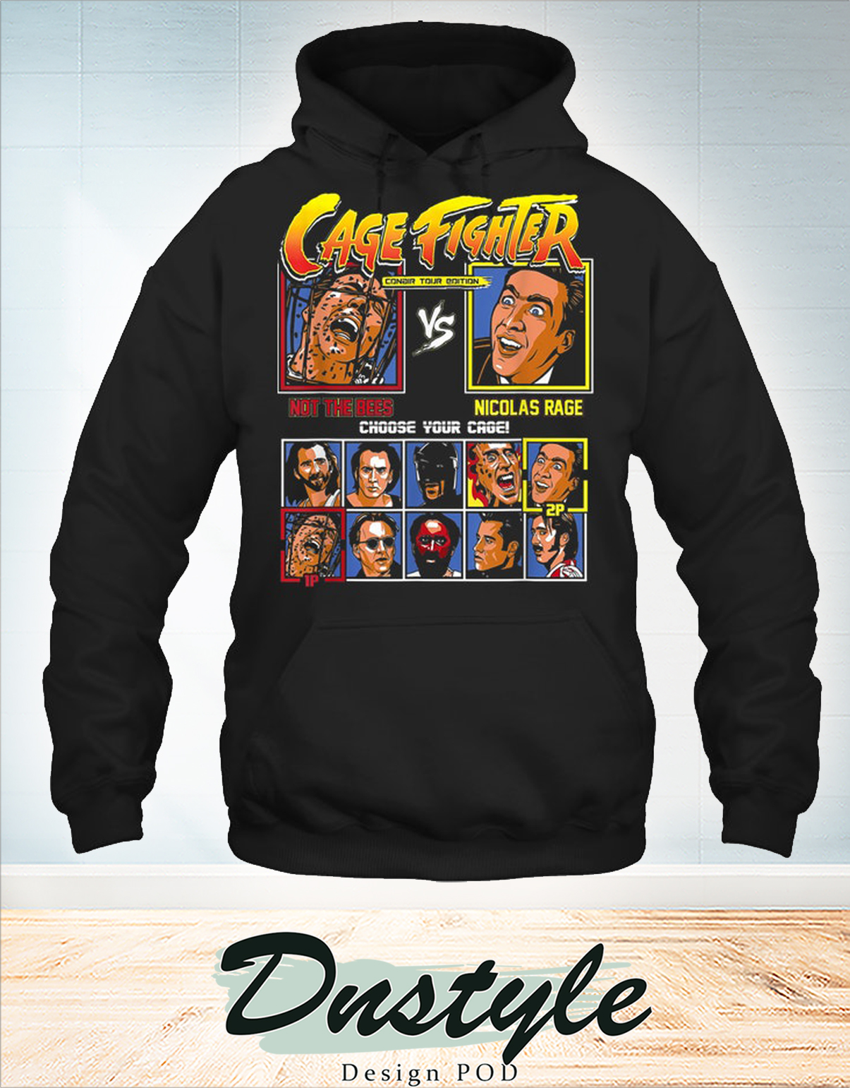 Cage fighter not the bees vs nicolas rage hoodie