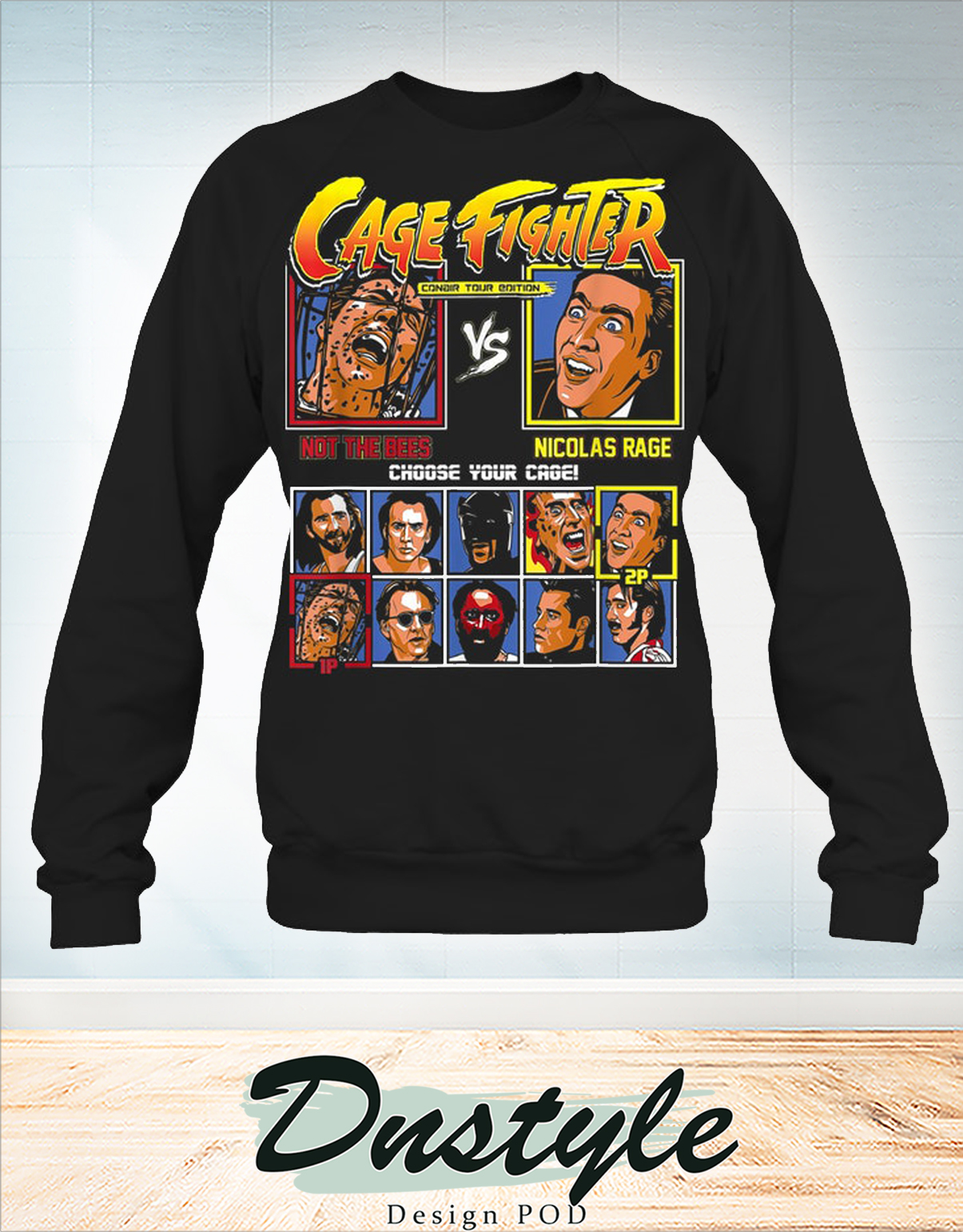Cage fighter not the bees vs nicolas rage long sleeve