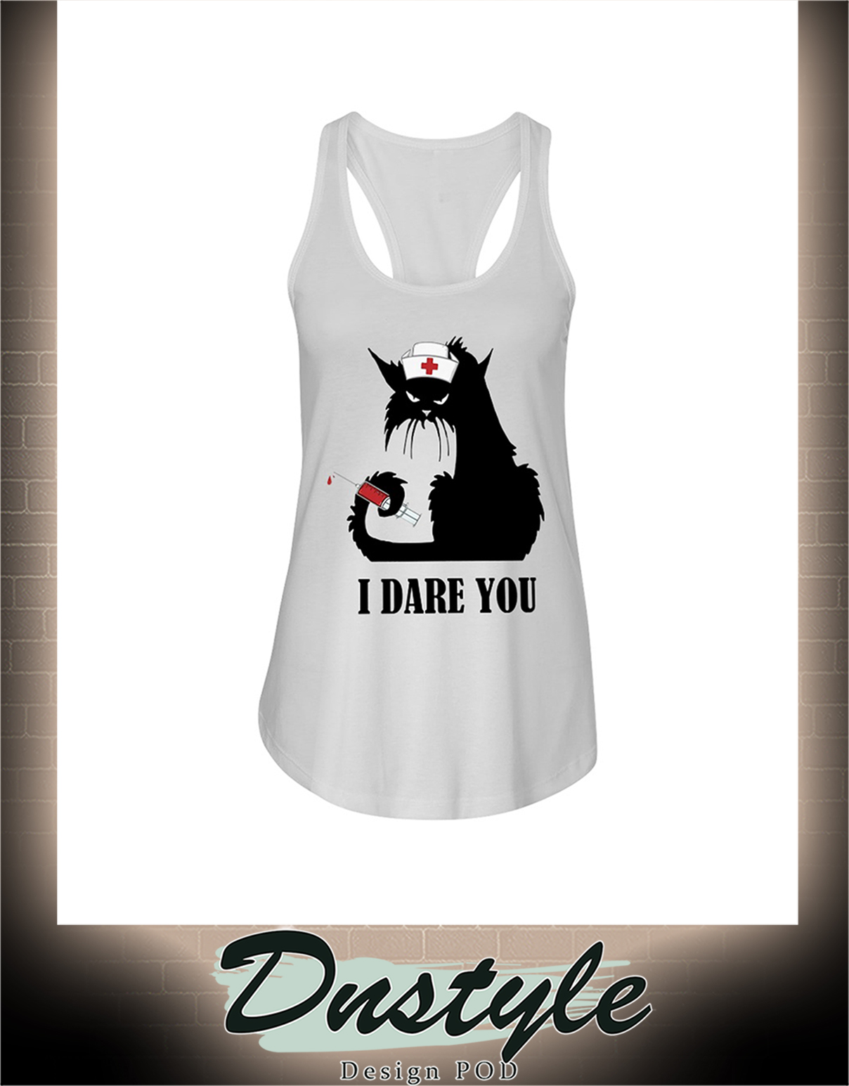 Cat nurse I dare you flowy tank