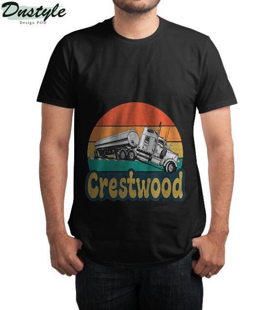Crestwood Kentucky KY Tourism Semi Stuck on Railroad Tracks T-Shirt