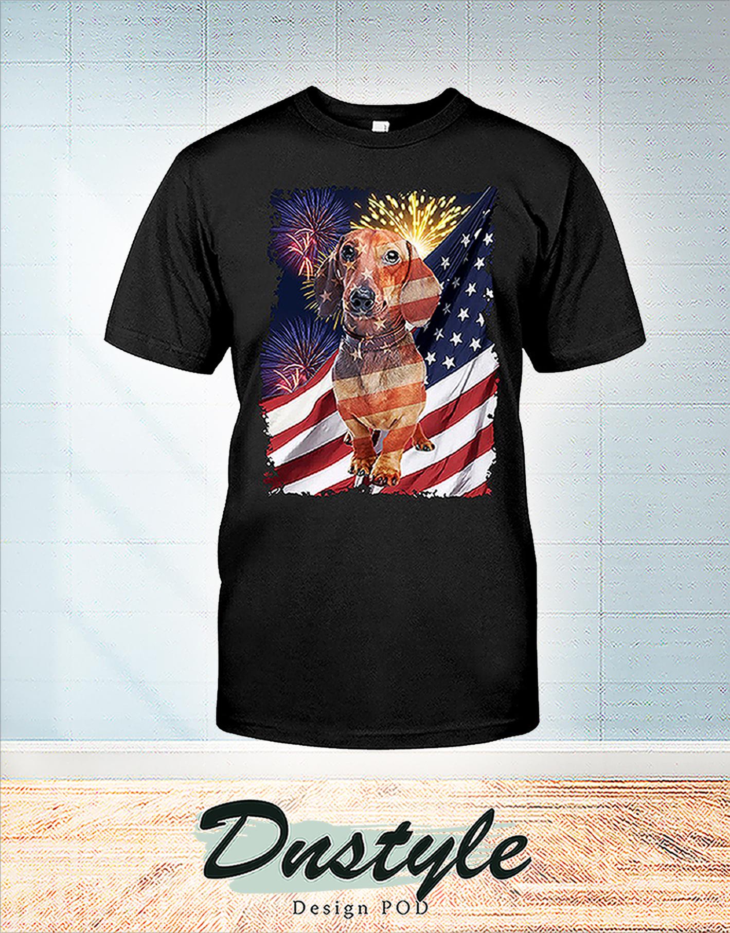 Dachshund america freedom calling 4th of July shirt
