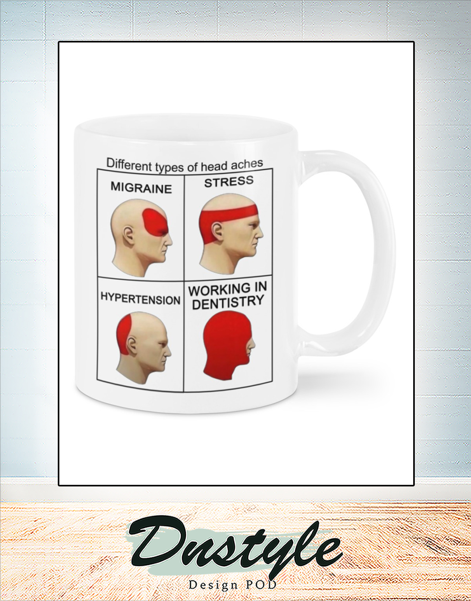Different of head aches mug