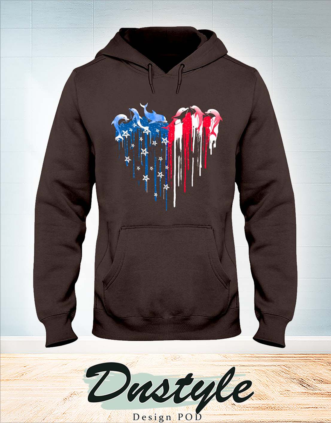 Dolphin freedom hear colors independence day hoodie