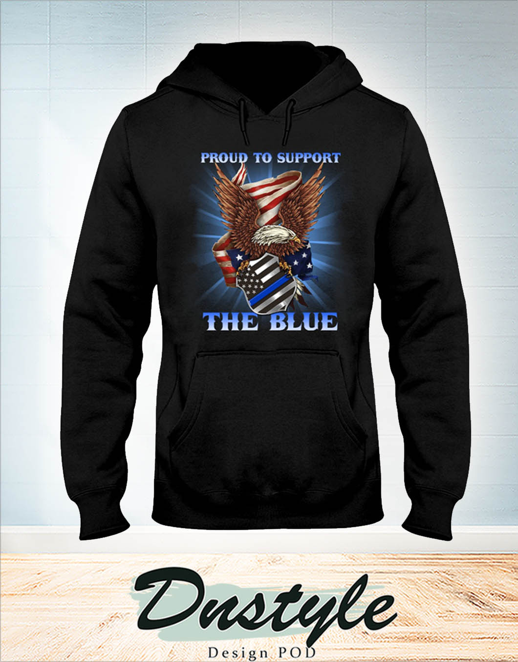 Eagle proud to support the blue hoodie