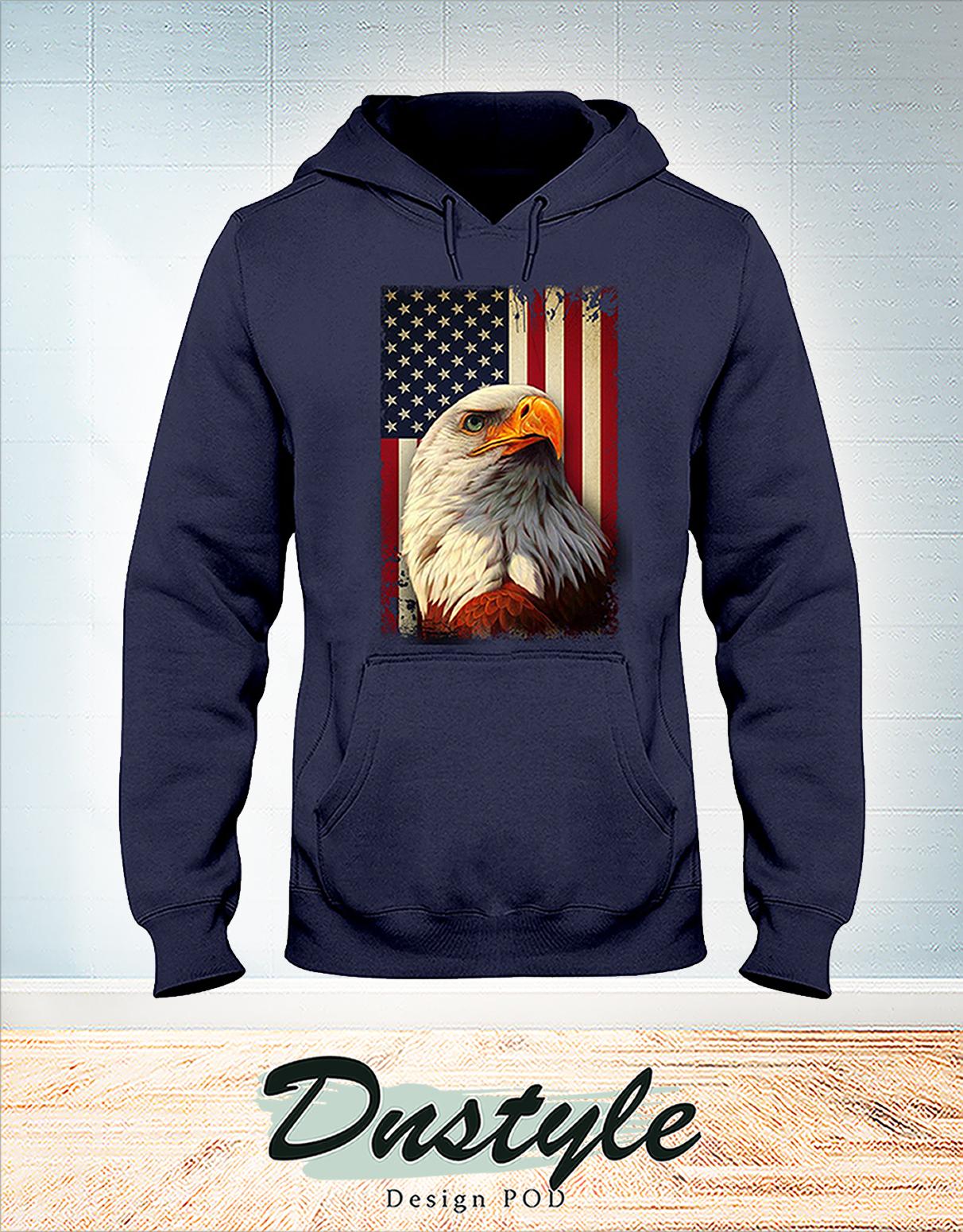 Eagle smile american flag 4th july hoodie