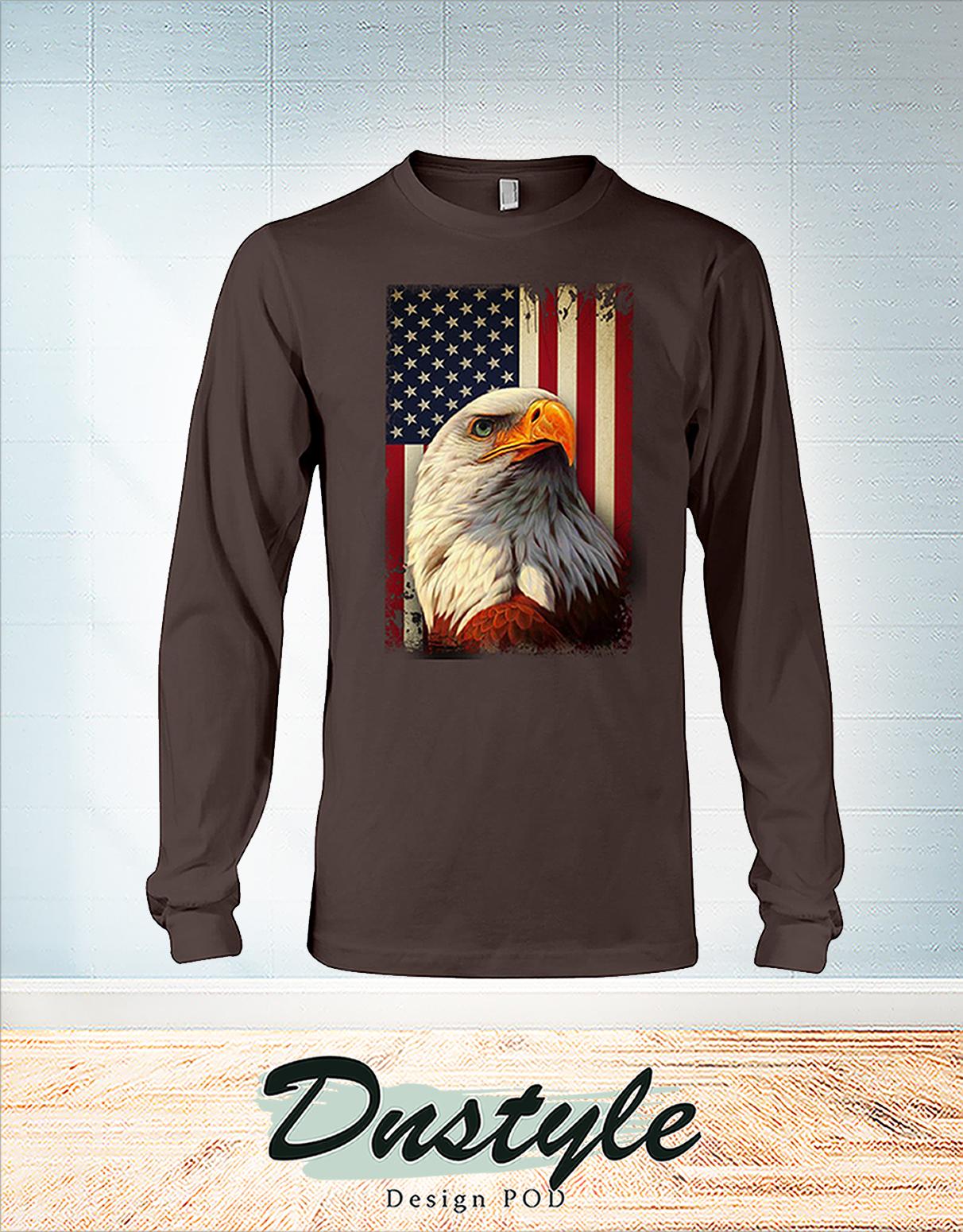 Eagle smile american flag 4th july long sleeve