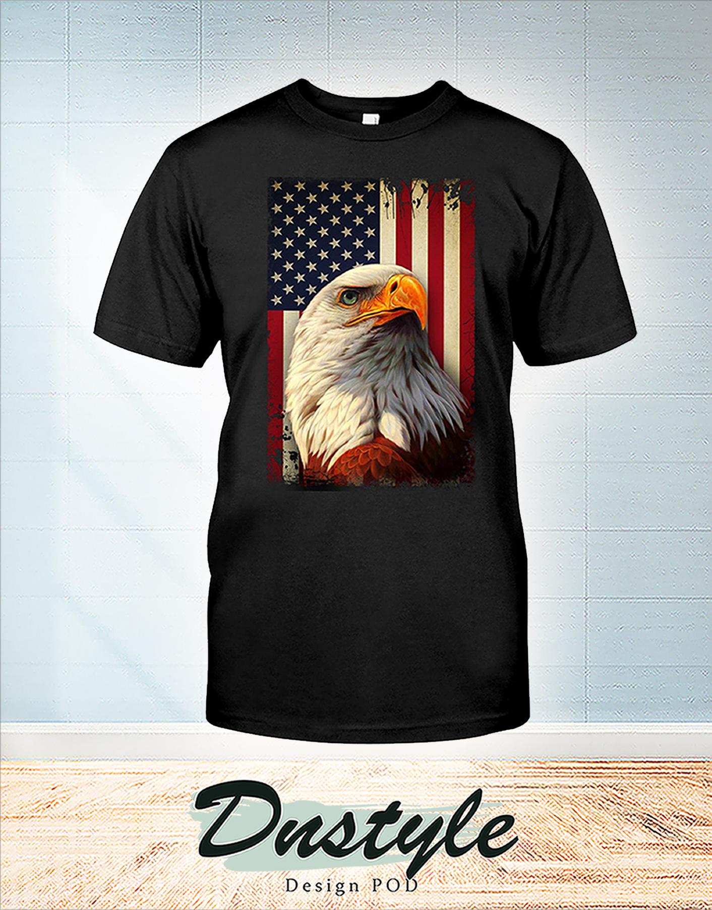 Eagle smile american flag 4th july shirt