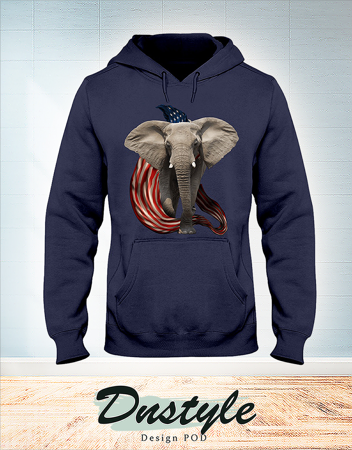 Elephant cool and freedom 4th july hoodie