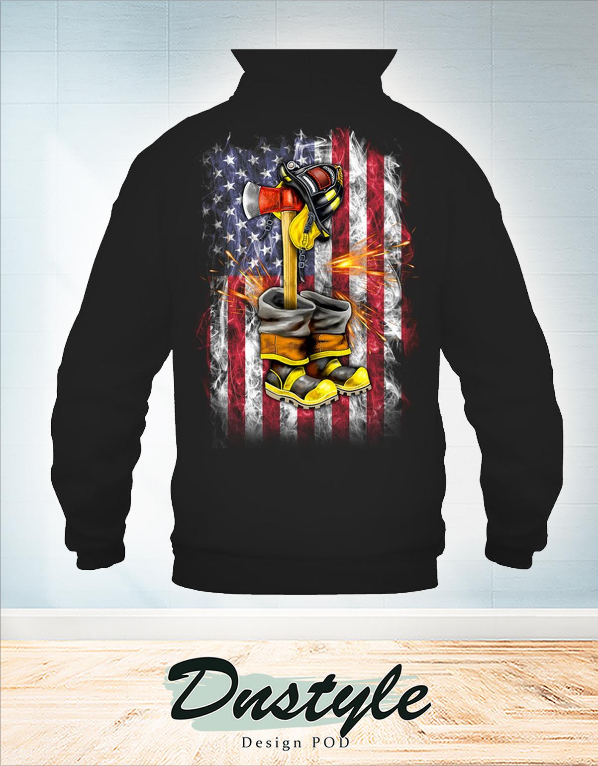 Fallen Firefighter american flag hoodie