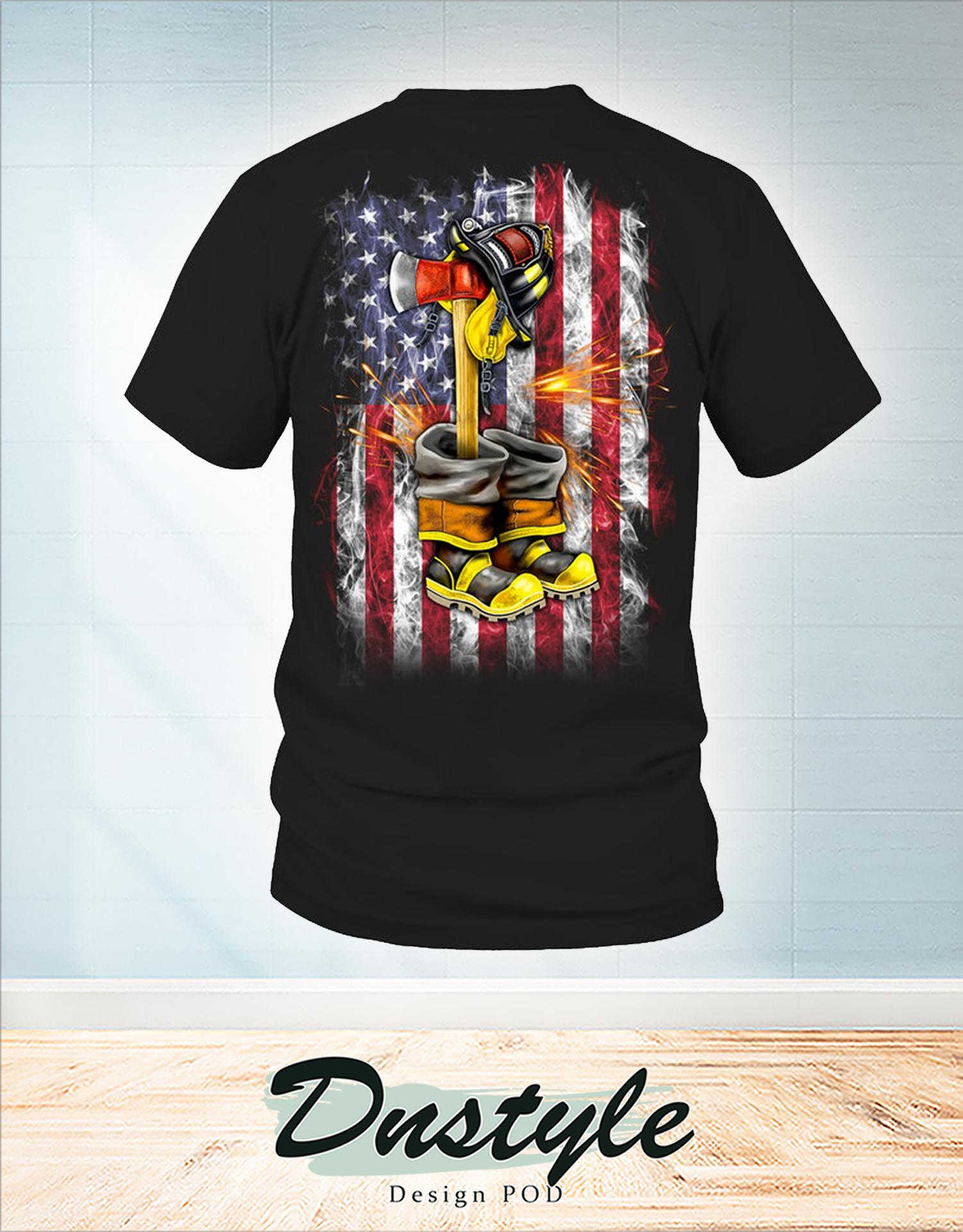 Fallen Firefighter american flag shirt