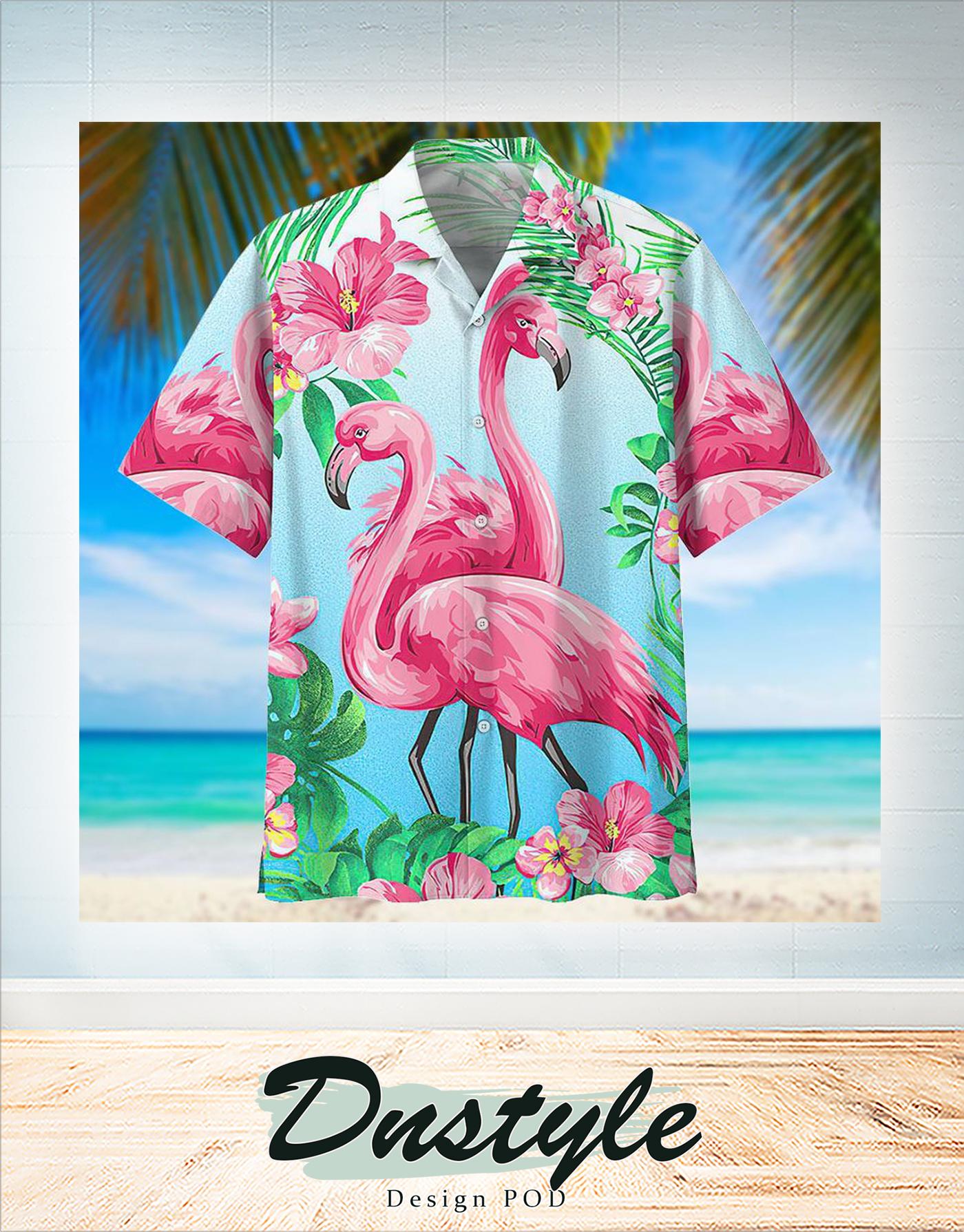 Flamingo hawaiian apparel shirt