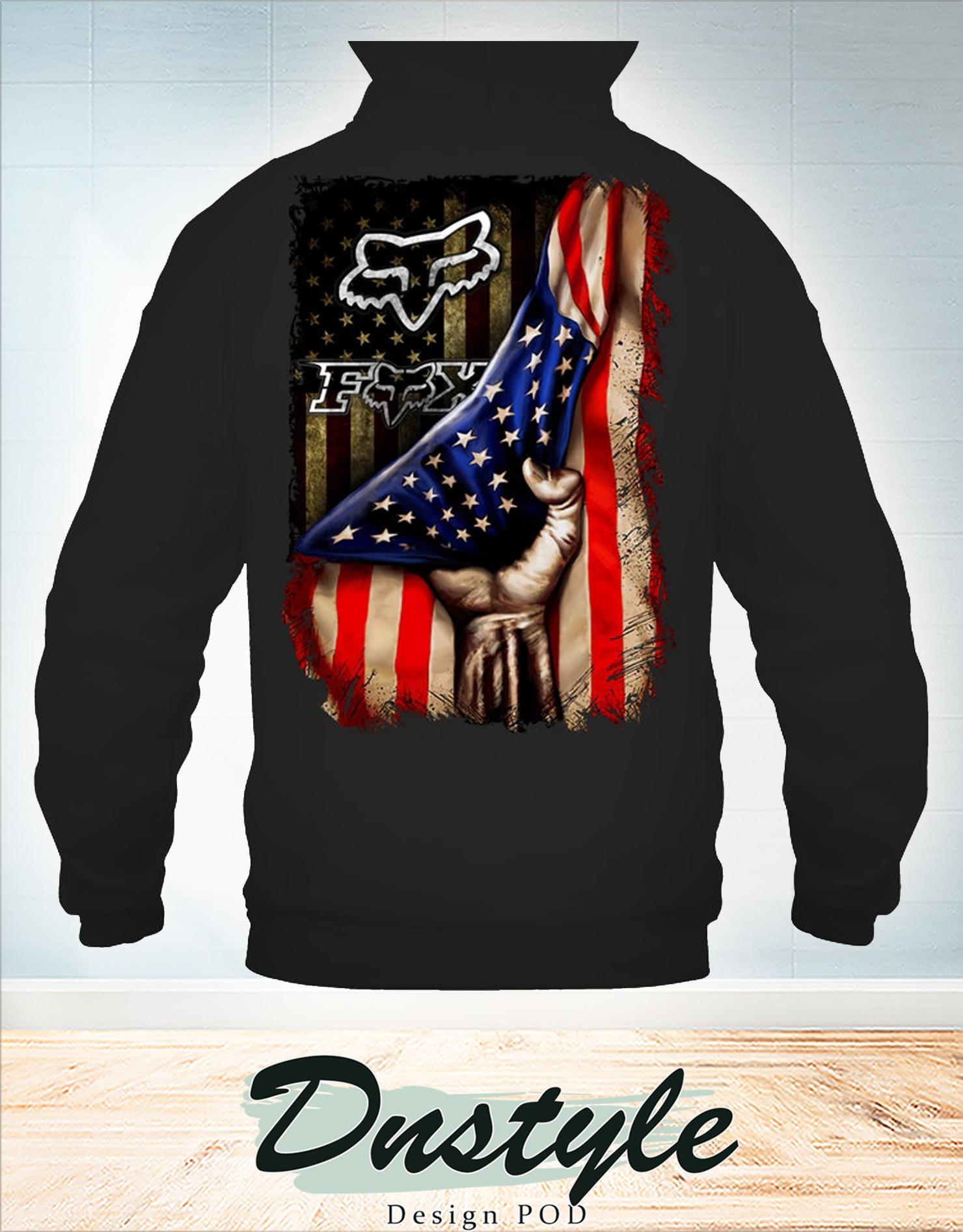 Fox racing american flag 4th of july hoodie