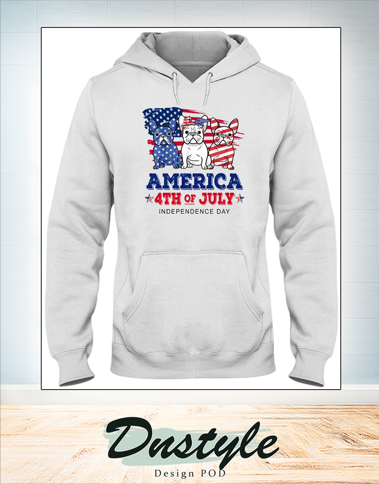 Frenchie america 4th of july independence day hoodie