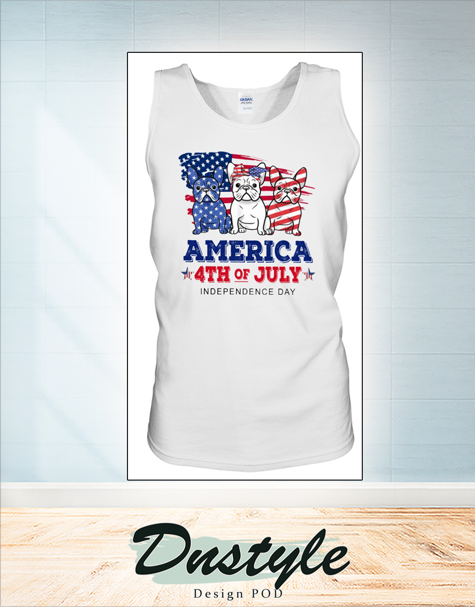 Frenchie america 4th of july independence day tank