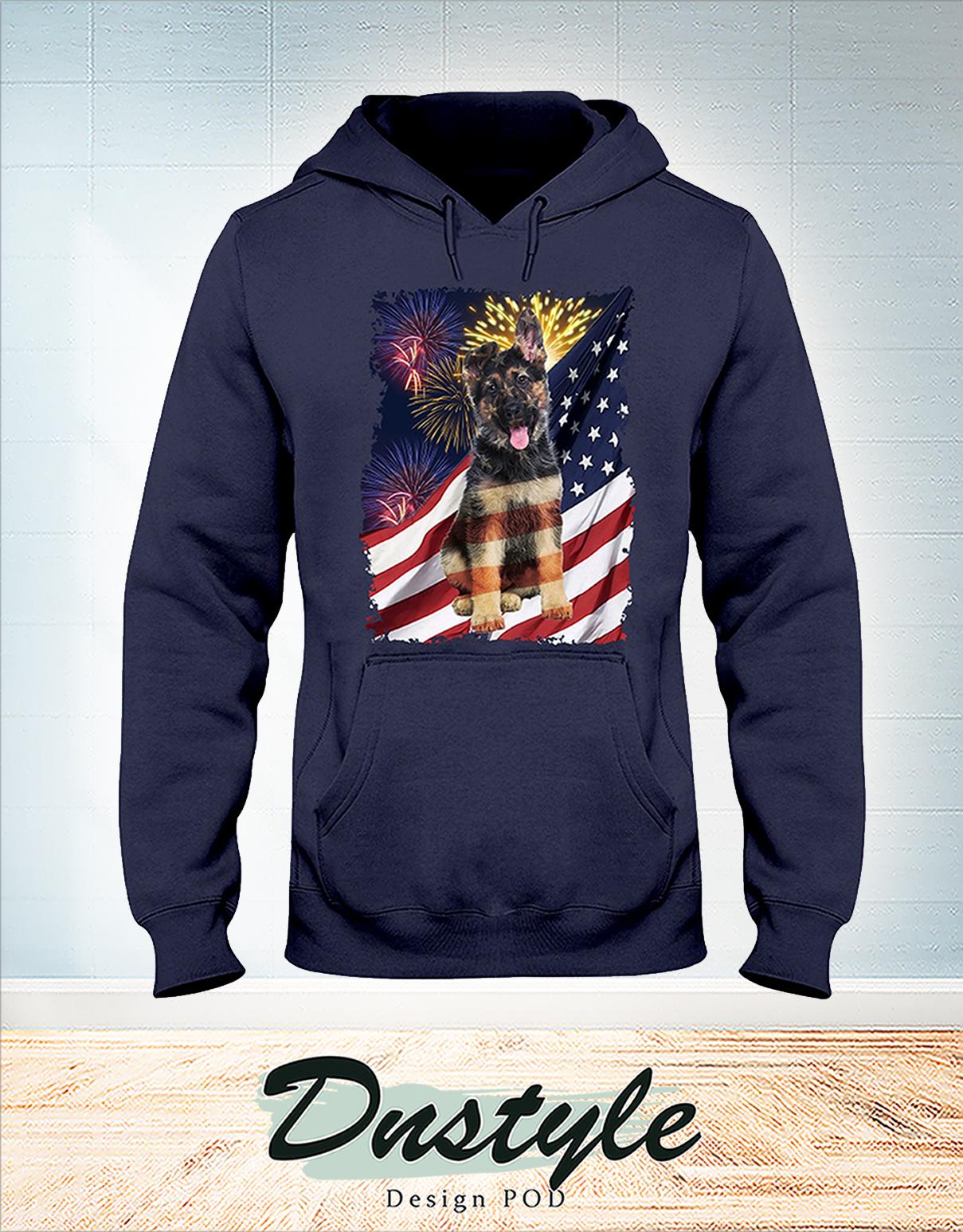 German Shepherd america freedom calling 4th july hoodie