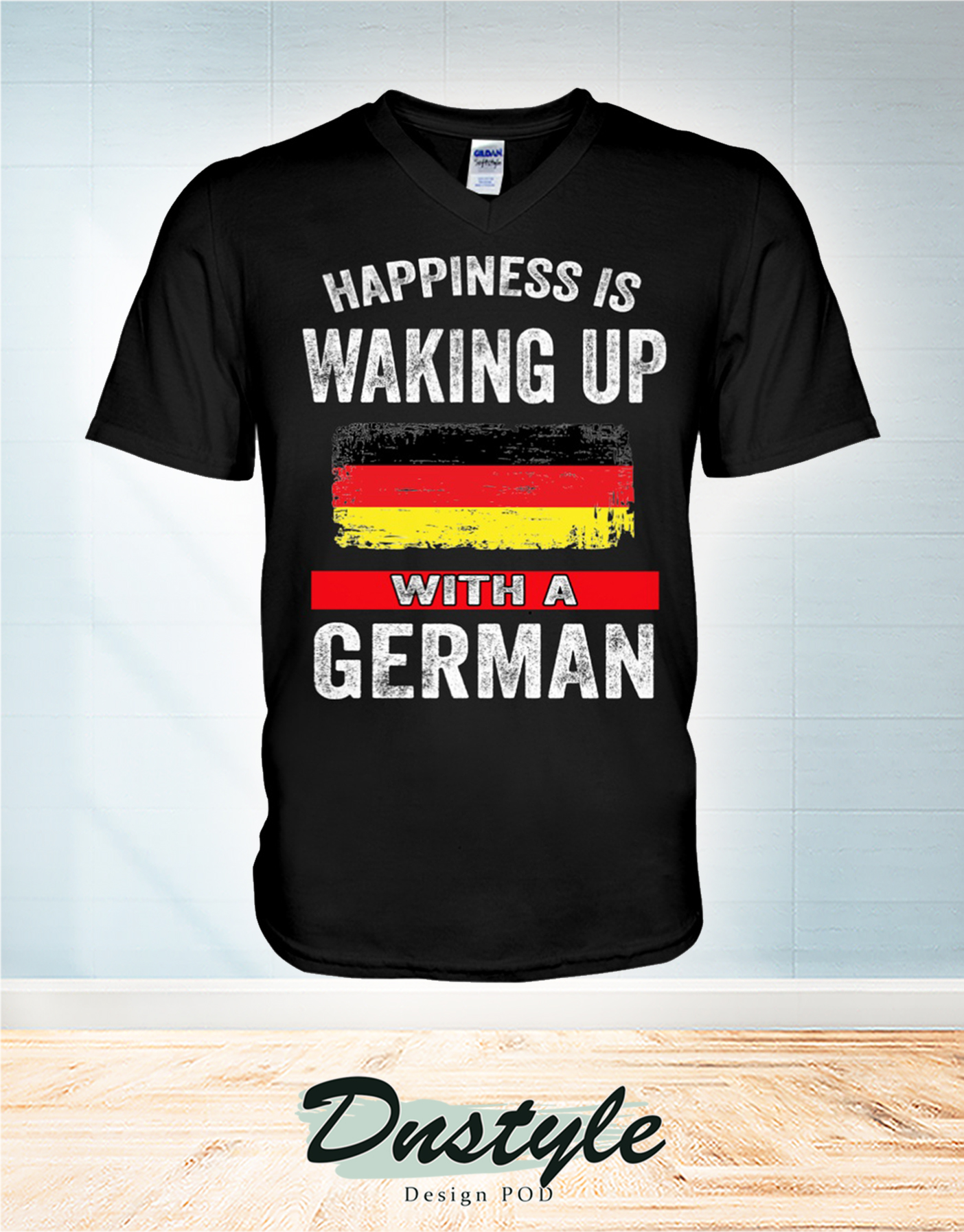Happiness is waking up with a German v-neck