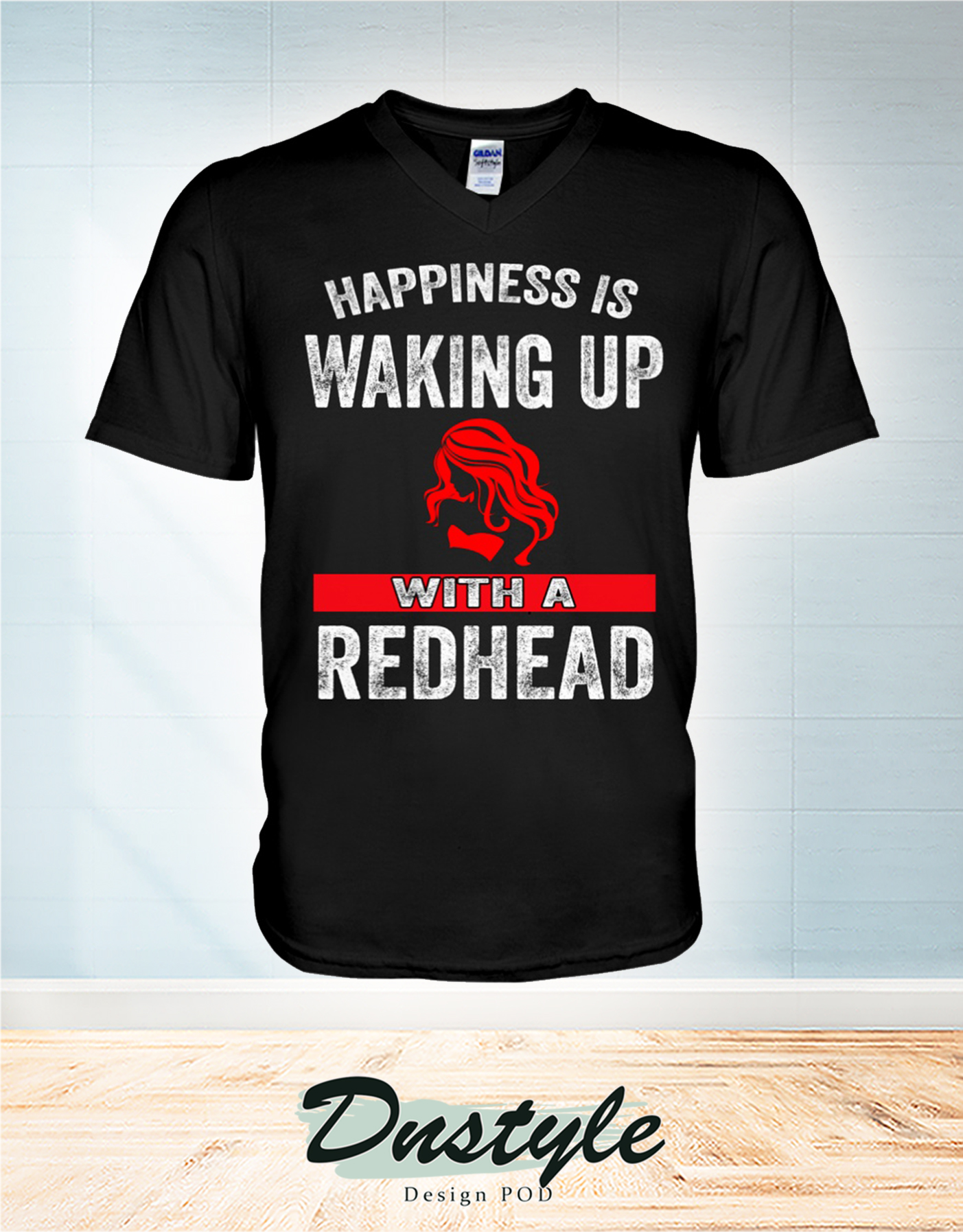 Happiness is waking up with a redhead v-neck