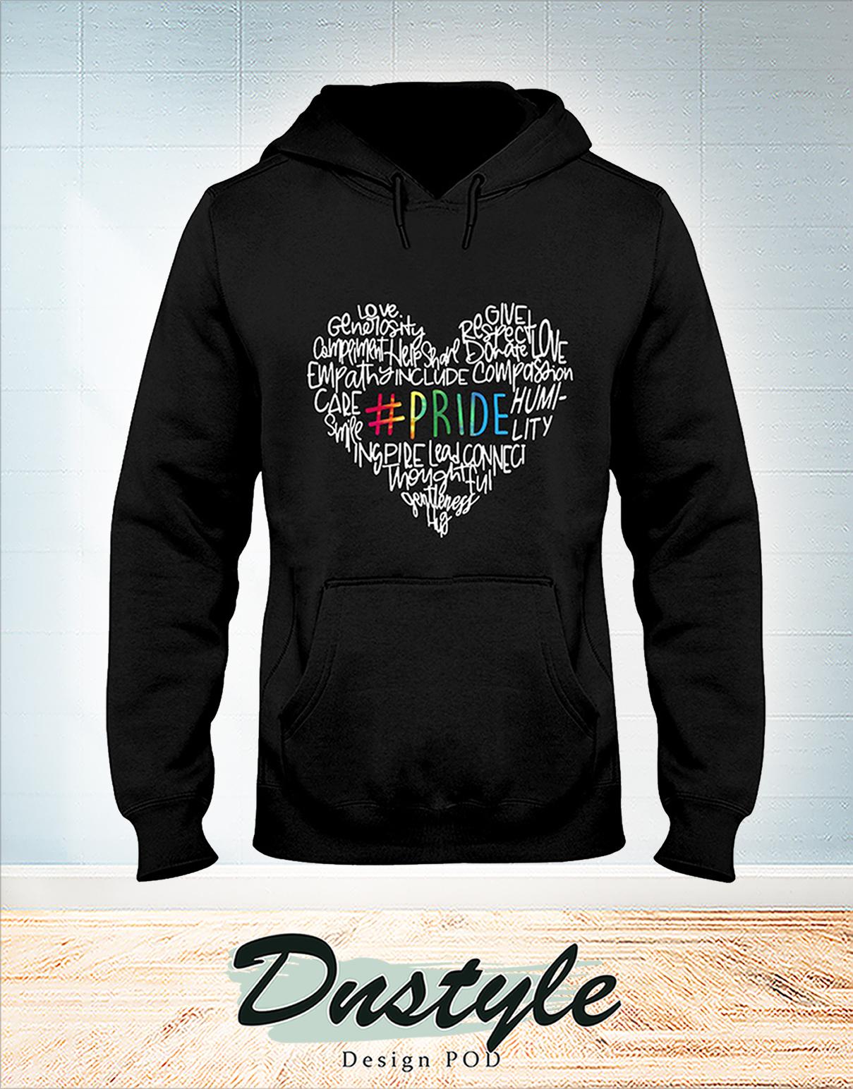 Heart LGBT pride love generosity compliment hoodie