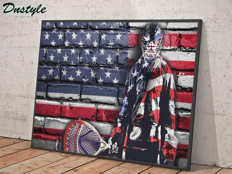Hockey goalie american flag poster A1